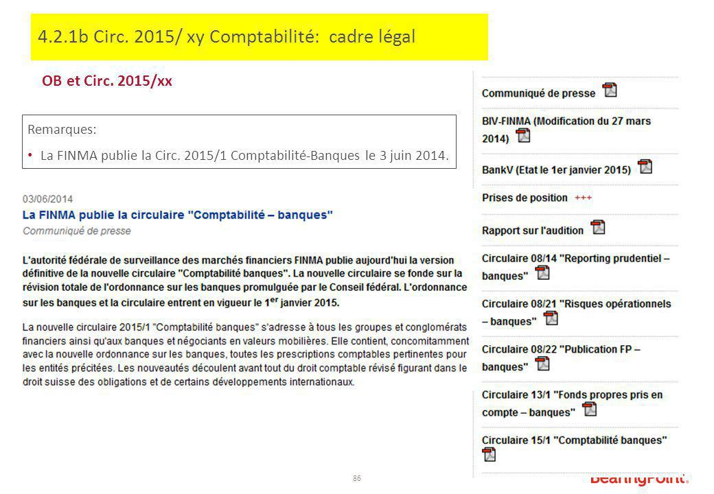 4.2.1b Circ. 2015/ xy Comptabilité: cadre légal