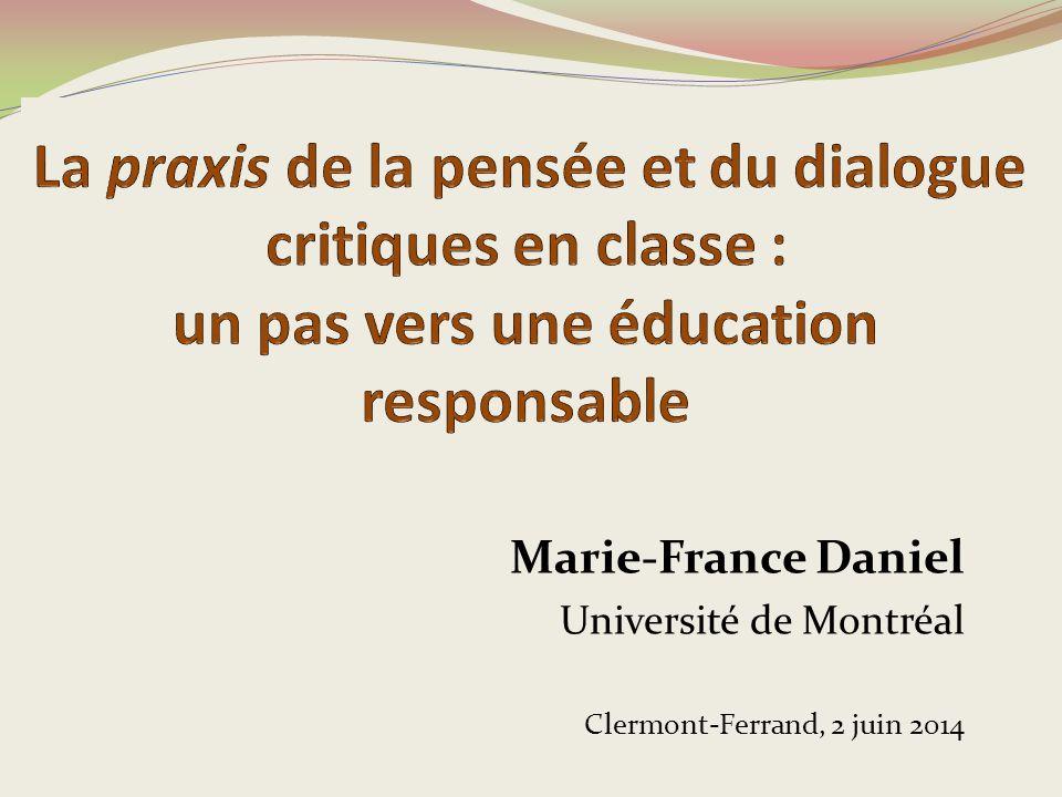 La praxis de la pensée et du dialogue critiques en classe : un pas vers une éducation responsable