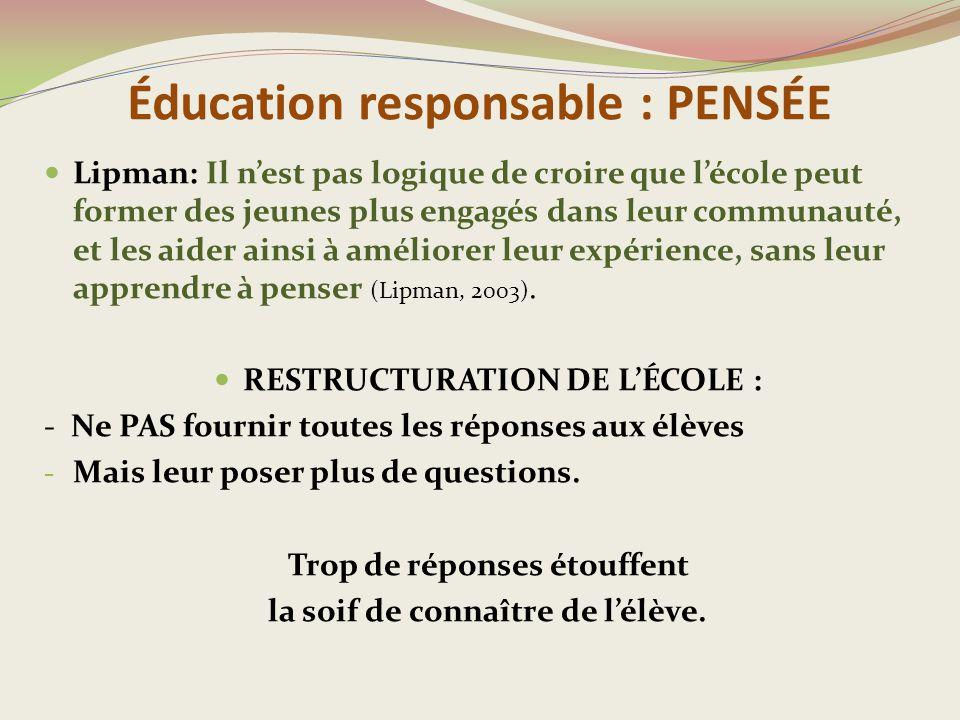 Éducation responsable : PENSÉE