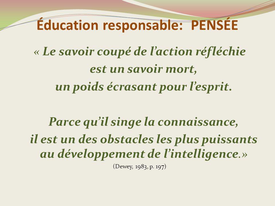 Éducation responsable: PENSÉE