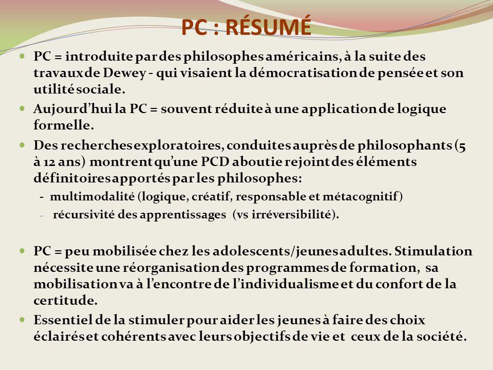 PC : RÉSUMÉ