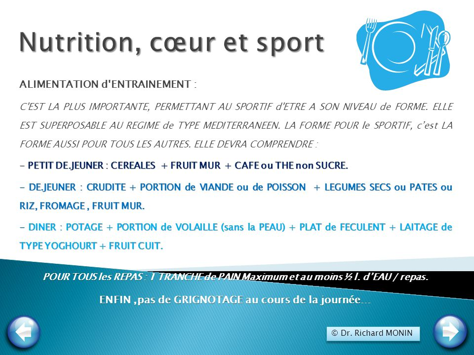 Nutrition, cœur et sport