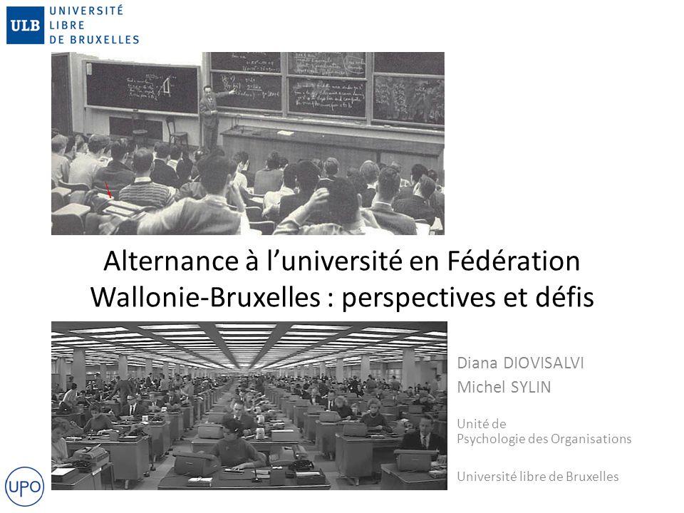 Alternance à l'université en Fédération Wallonie-Bruxelles : perspectives et défis