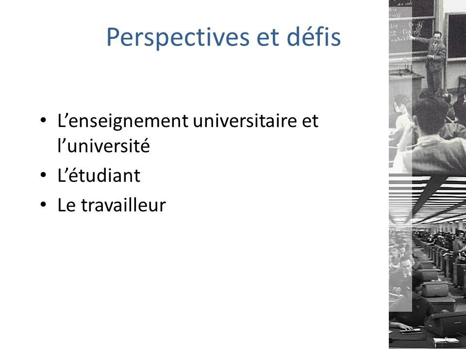 Perspectives et défis L'enseignement universitaire et l'université
