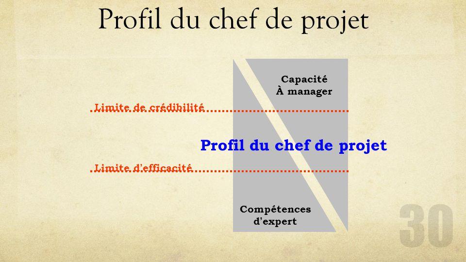Profil du chef de projet