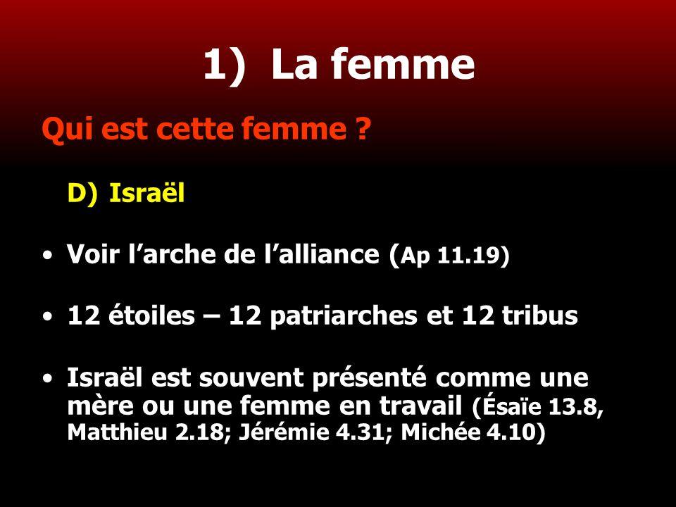 1) La femme Qui est cette femme D) Israël