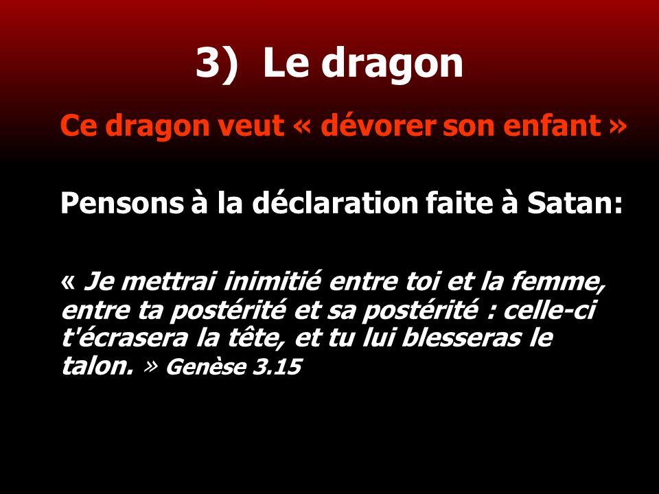 3) Le dragon Ce dragon veut « dévorer son enfant »
