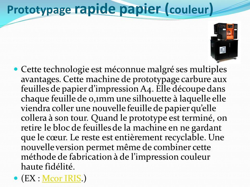 Prototypage rapide papier (couleur)
