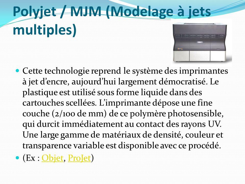 Polyjet / MJM (Modelage à jets multiples)