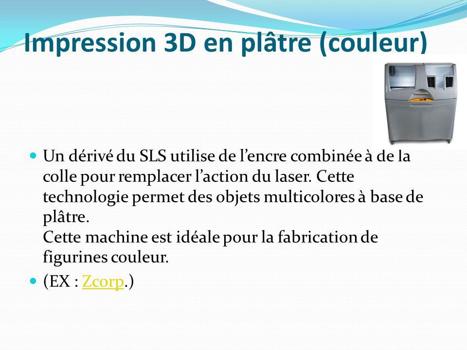 Impression 3D en plâtre (couleur)