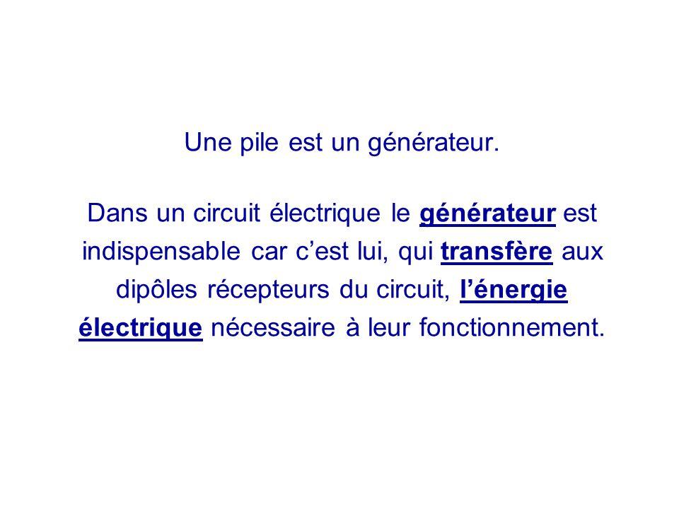 Une pile est un générateur.