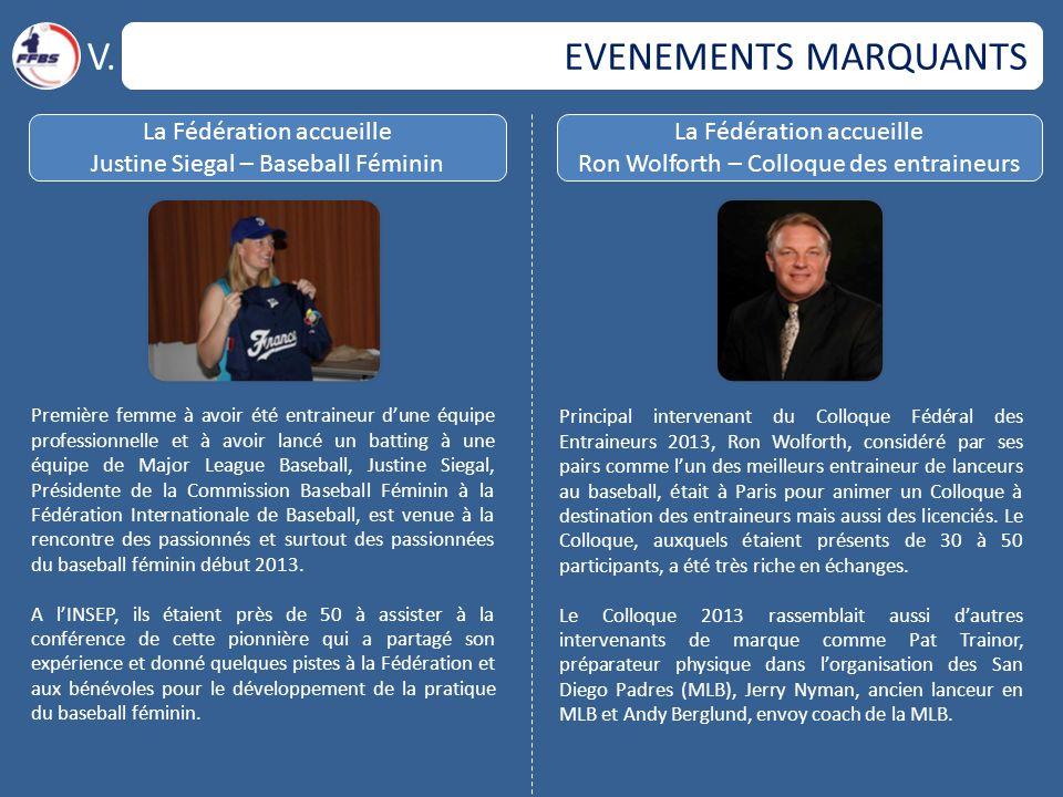V. EVENEMENTS MARQUANTS La Fédération accueille