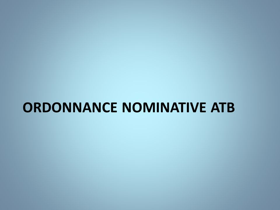 Ordonnance nominative atb
