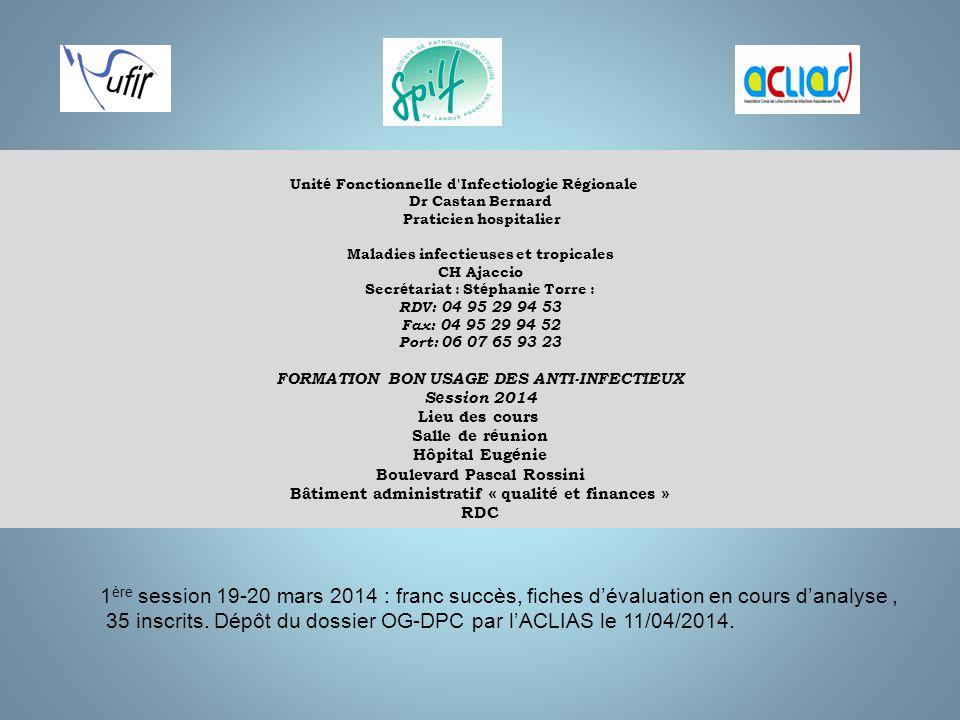 35 inscrits. Dépôt du dossier OG-DPC par l'ACLIAS le 11/04/2014.