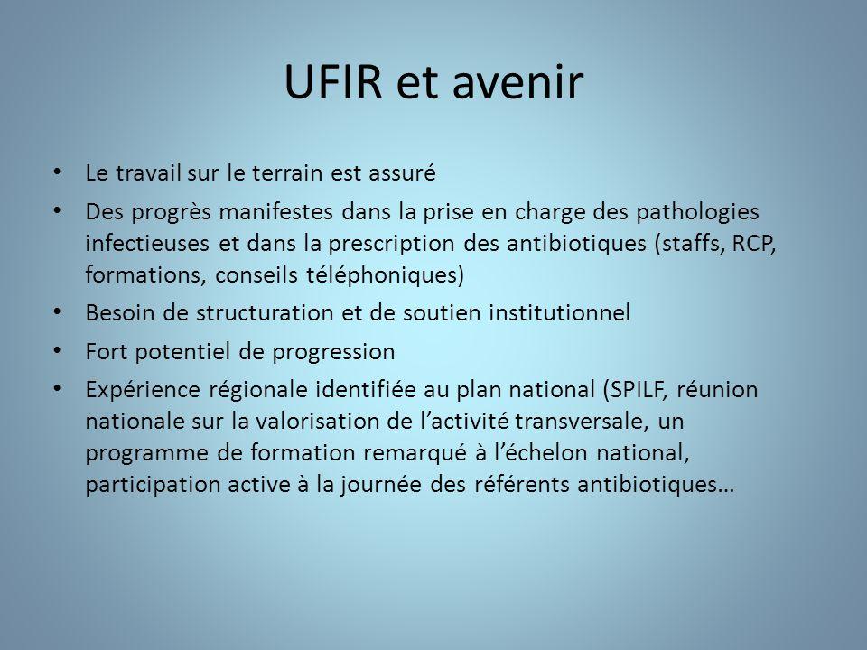 UFIR et avenir Le travail sur le terrain est assuré