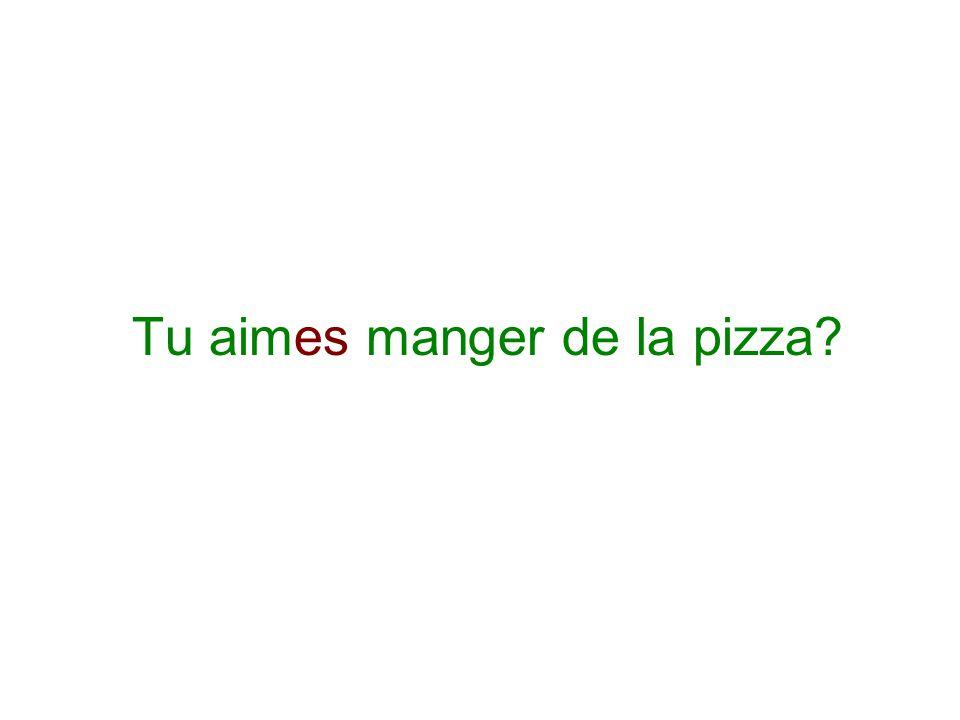 Tu aimes manger de la pizza