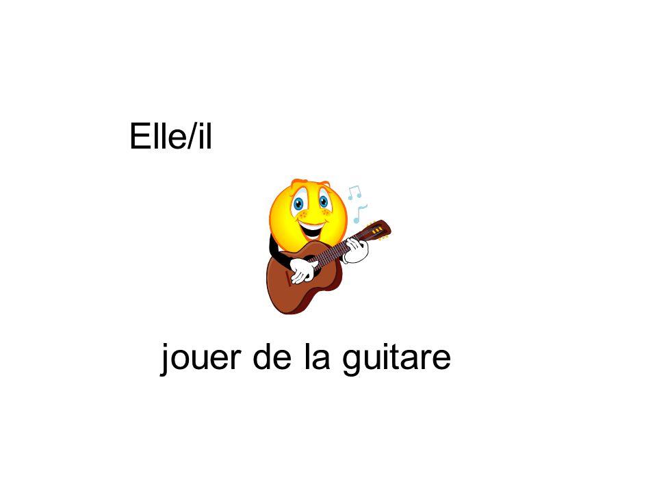 Elle/il jouer de la guitare