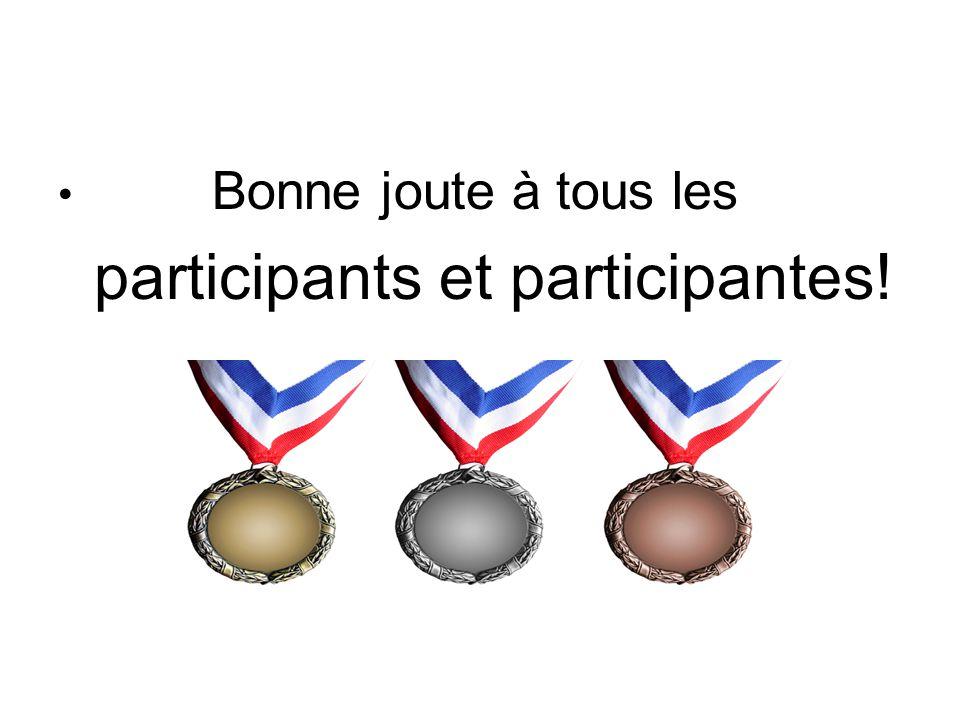 participants et participantes!