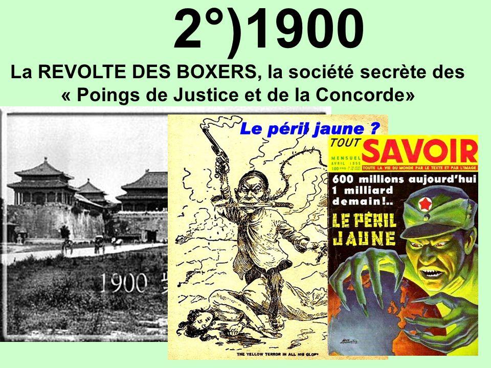 2°)1900 « Poings de Justice et de la Concorde»