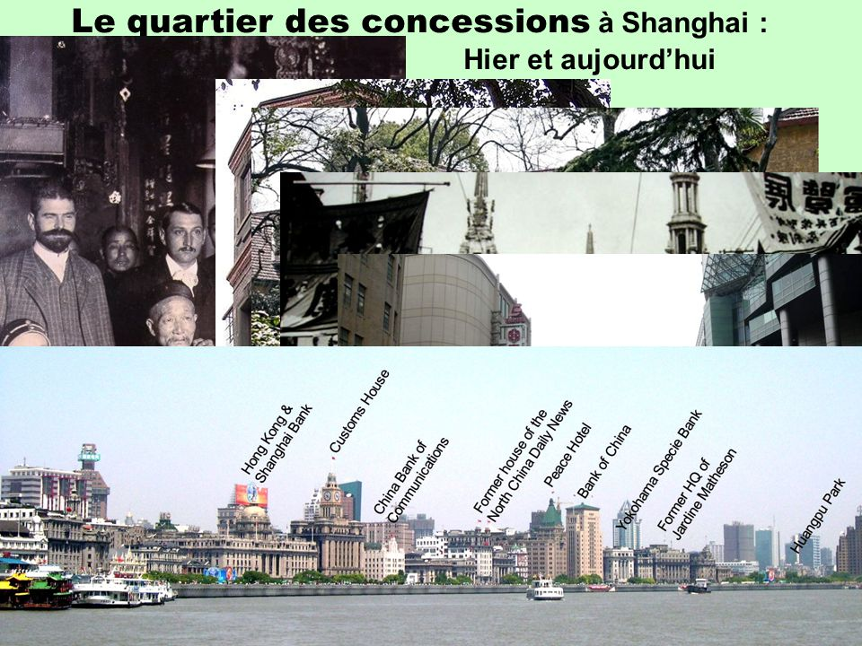 Le quartier des concessions à Shanghai :