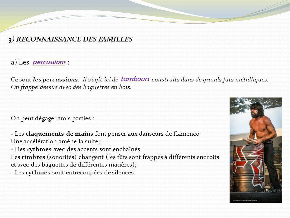 3) RECONNAISSANCE DES FAMILLES
