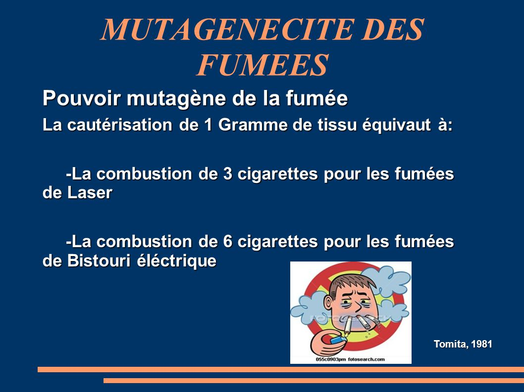 MUTAGENECITE DES FUMEES