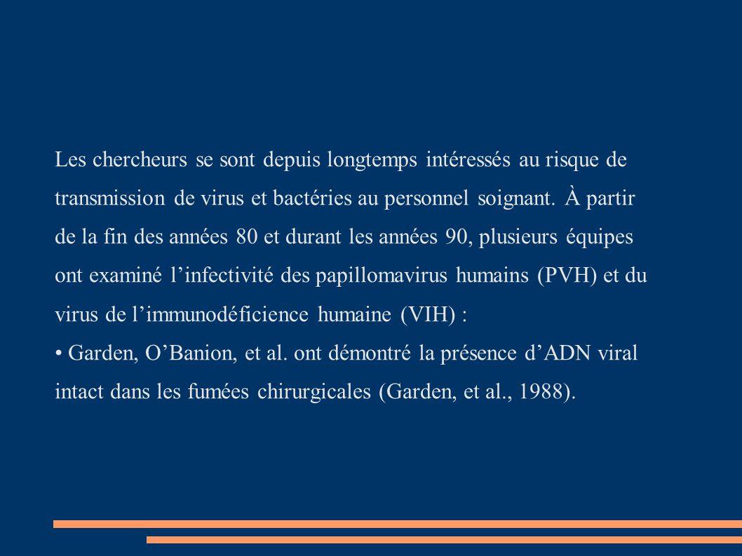 Les chercheurs se sont depuis longtemps intéressés au risque de transmission de virus et bactéries au personnel soignant.