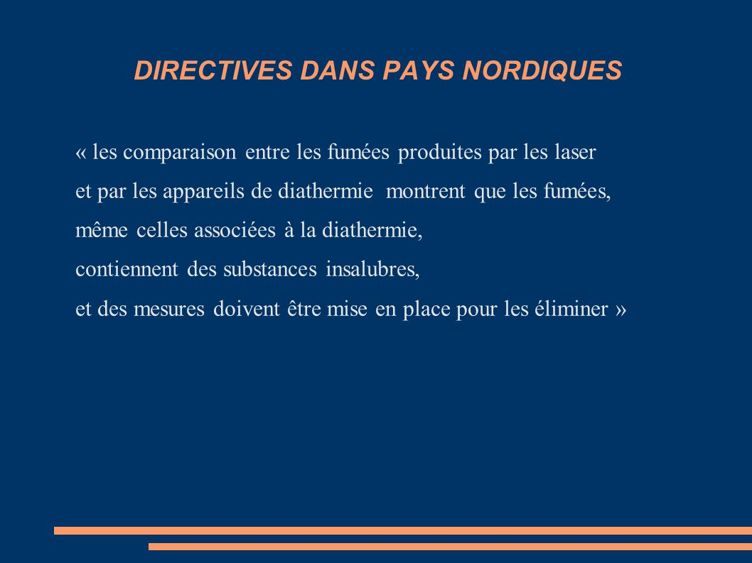 DIRECTIVES DANS PAYS NORDIQUES