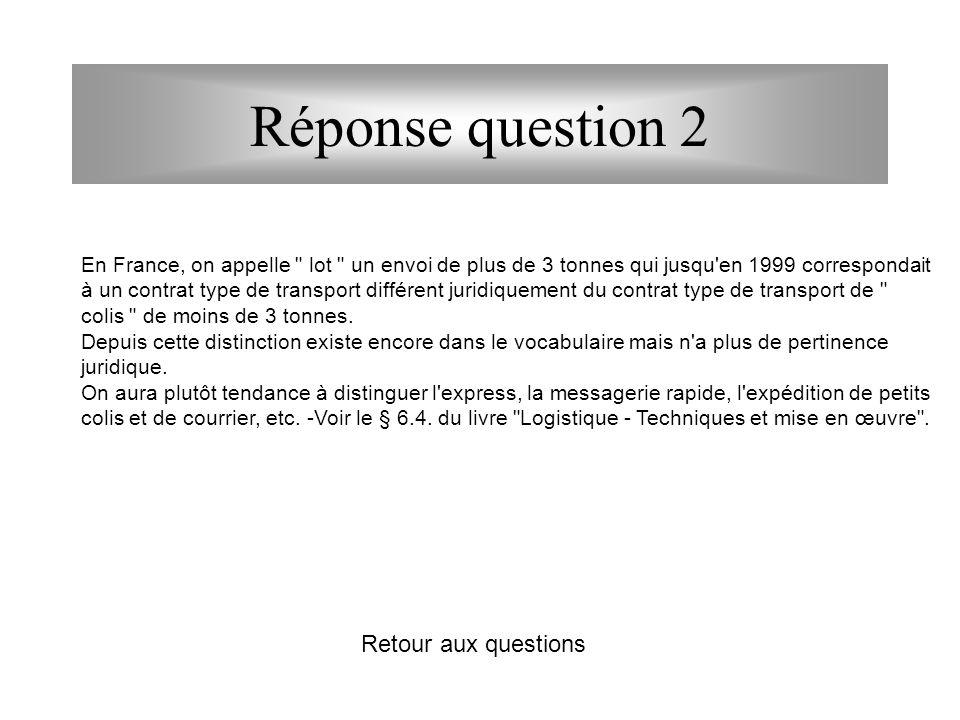 Réponse question 2 Retour aux questions