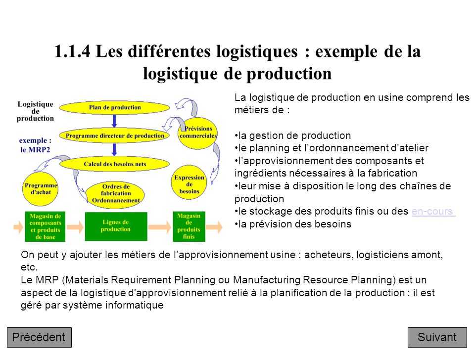 exemple planning logistique
