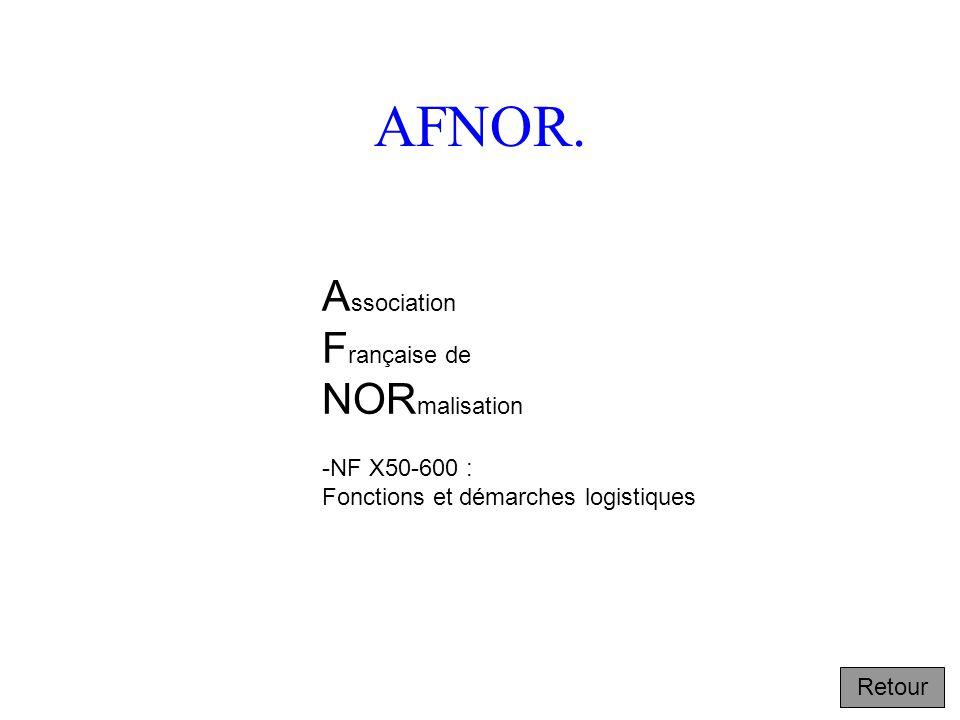 AFNOR. Association Française de NORmalisation -NF X50-600 :