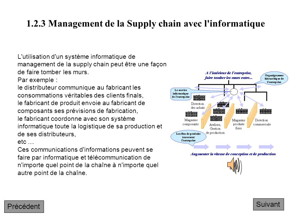 1.2.3 Management de la Supply chain avec l informatique