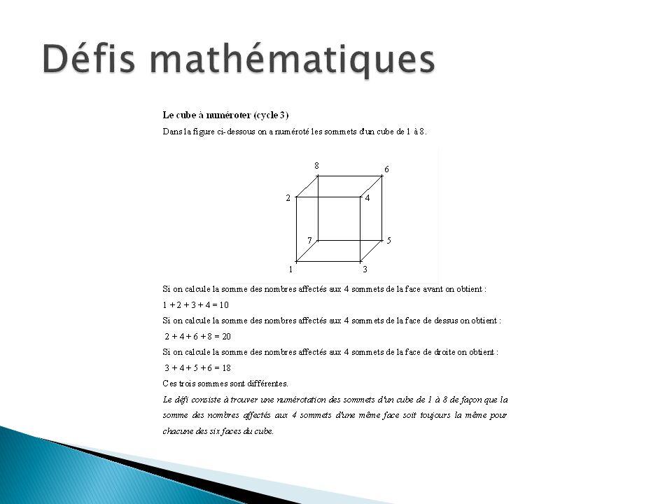 Défis mathématiques