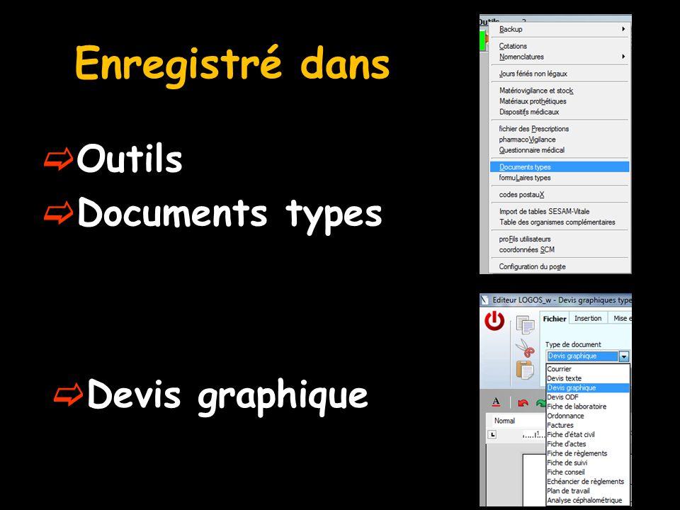 Enregistré dans Outils Documents types Devis graphique