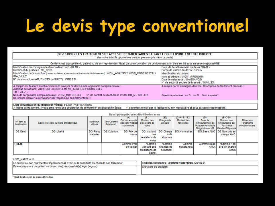 Le devis type conventionnel