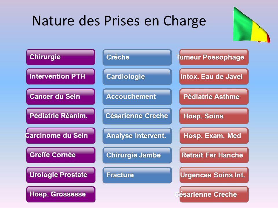 Nature des Prises en Charge