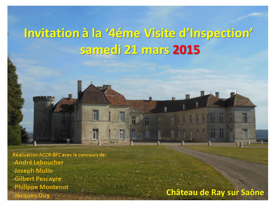 Invitation à la '4éme Visite d'Inspection'