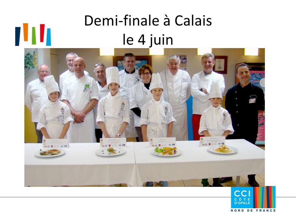 Demi-finale à Calais le 4 juin