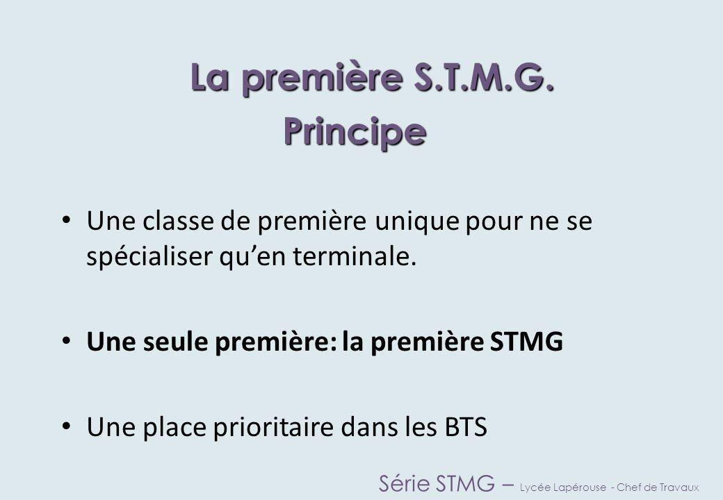 La première S.T.M.G. Principe