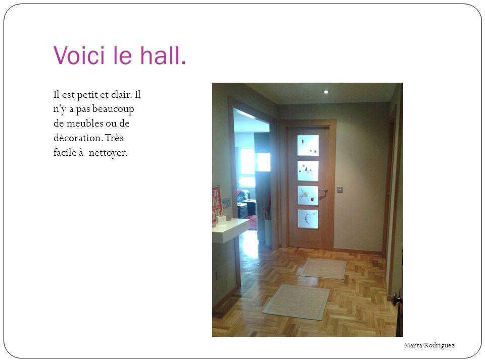 Voici le hall. Il est petit et clair. Il n y a pas beaucoup de meubles ou de décoration. Très facile à nettoyer.