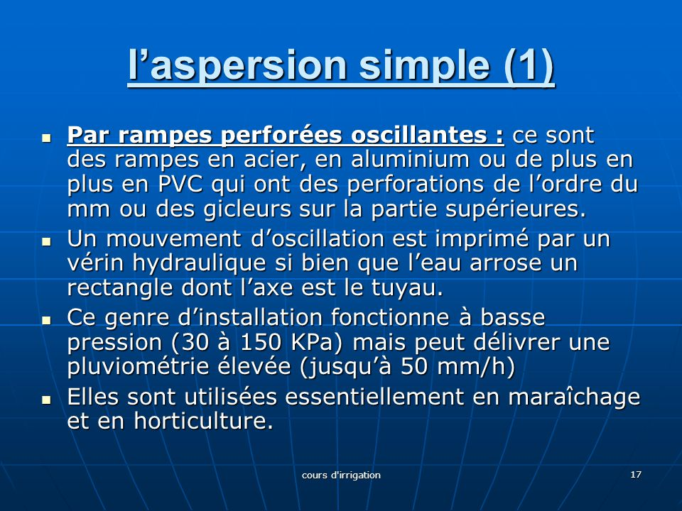 l'aspersion simple (1)