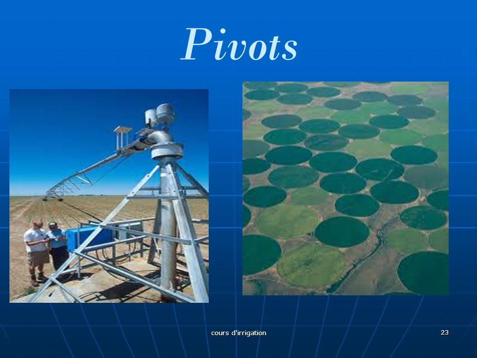 Pivots cours d irrigation