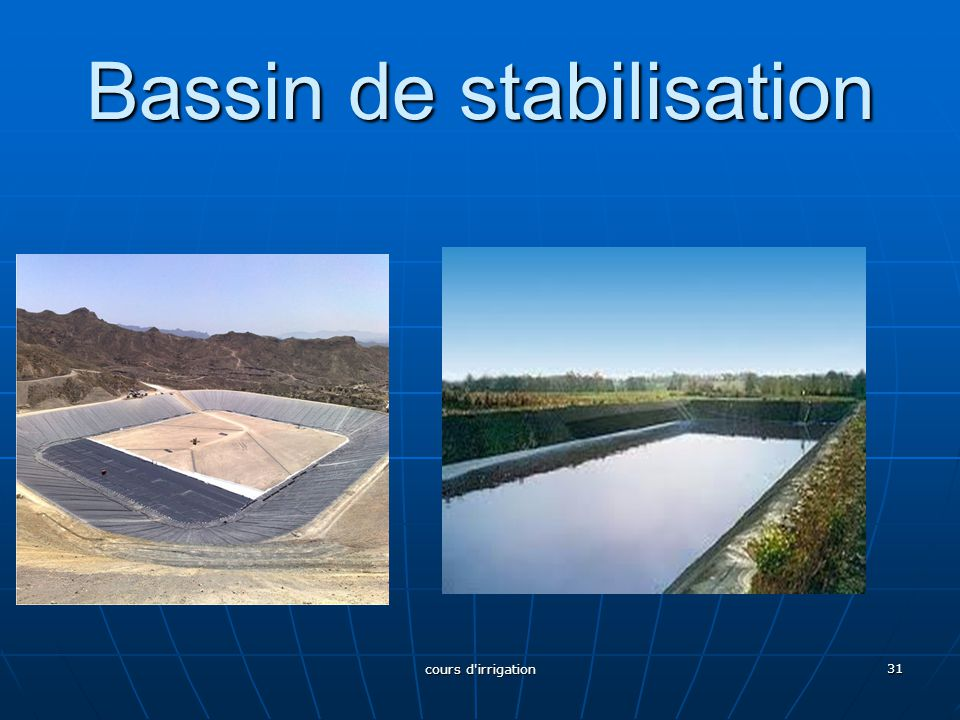 Bassin de stabilisation