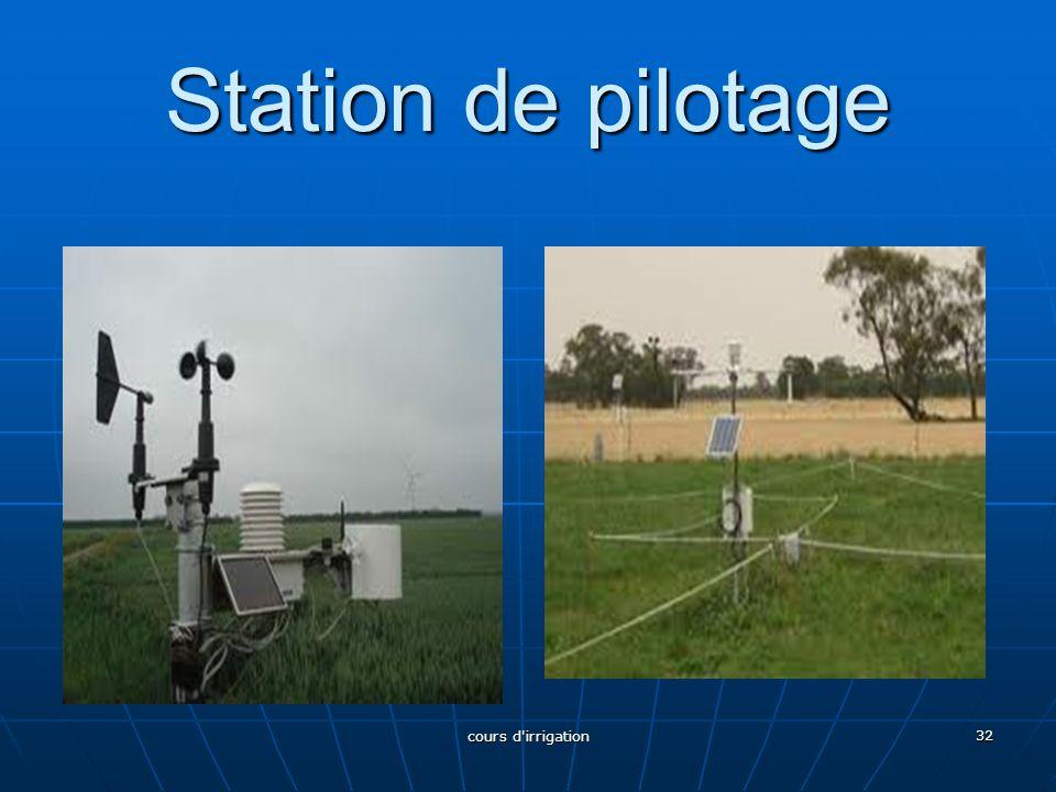 Station de pilotage cours d irrigation