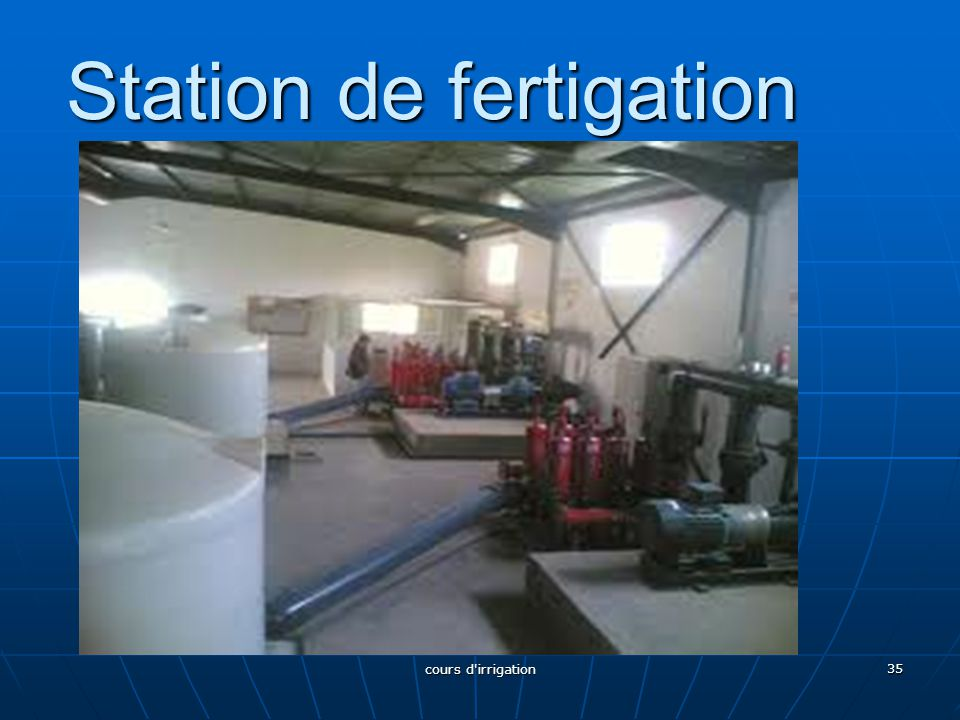 Station de fertigation