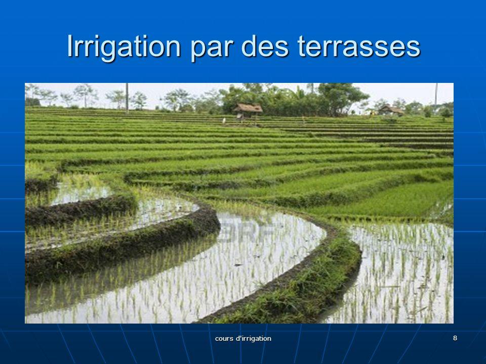 Irrigation par des terrasses