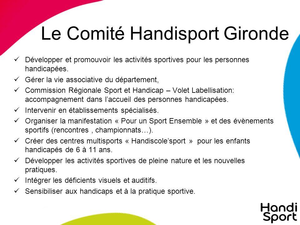 Le Comité Handisport Gironde