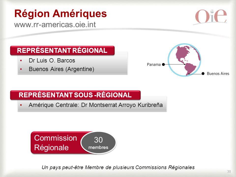 Région Amériques www.rr-americas.oie.int