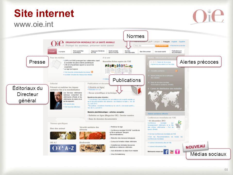 Site internet www.oie.int
