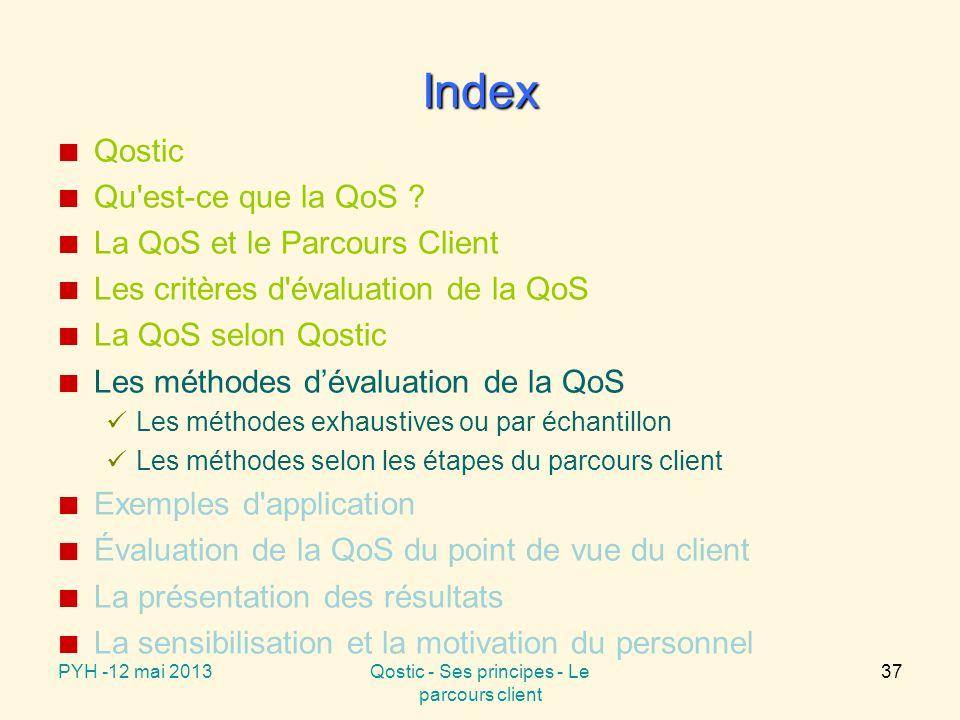Les méthodes d'évaluation de la QoS